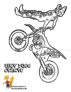 Coloring Picture Of Dirt Bike Crusty Demons