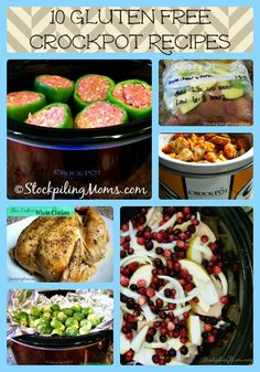 Because a ridiculous amount of the people in my family group are gluten free... :( 10 Gluten Free Crockpot Recipes that are scrumptious and healthy!