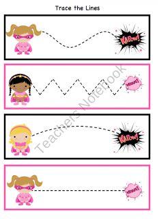 Preschool Printables: Super Hero Girl Printable