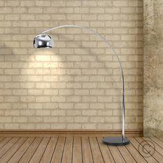Midi Curva Floor Lamp with Black Base