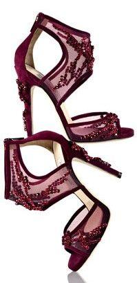 b8ee5b3bba6b Burgundy Jimmy Choos Fab Shoes