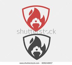 fireman/firefighter shield  logo