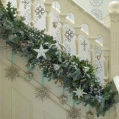 decoracion de escaleras navideñas - Google-Suche