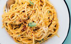 Avocado and Sun-Dried Tomato Pesto Pasta [Vegan]   One Green Planet