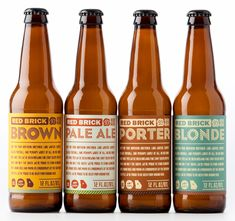 lovely retro text-based beer labels