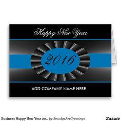 Business Happy New Year 2016 - Elegant Blue Ribbon