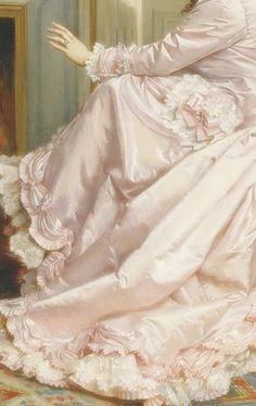 "sadnessdollart: "" Au coin de feu, Detail. by Auguste Toulmouche (1878) Oil on…"