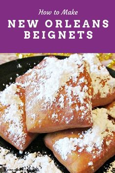 Wish to know how to make beignets like the French Quarter Beignets? Then make these New Orleans beignets with this easy beignet recipe. They are a must-try New Orleans Pastry! Donut Recipes, Pastry Recipes, Best Dessert Recipes, Easy Desserts, Great Recipes, Cake Recipes, Cooking Recipes, Favorite Recipes, Quick Dessert