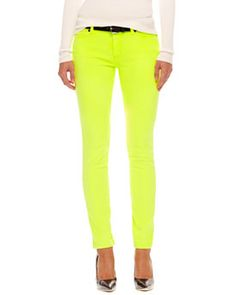 MICHAEL Michael Kors MICHAEL Michael Kors  Neon Skinny Jeans