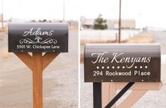 Mailbox Name and Address Vinyl Decals