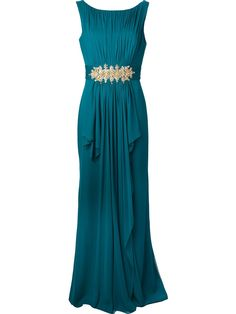 Marchesa- Teal Evening Gown