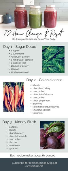 Spring Juice Cleanse – The Habit - Detox Breakfast 3 Day Juice Cleanse, Juice Cleanse Recipes, Healthy Juice Recipes, Juicer Recipes, Healthy Detox, Healthy Juices, Healthy Drinks, Best 3 Day Cleanse, Easy Detox