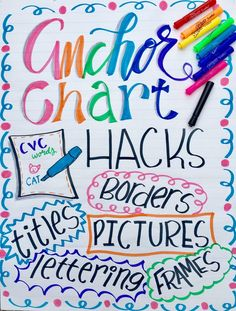 Do you look on Pinterest for Anchor Chart ideas and give up at the thought that your Anchor Chart could never look that amazing? Here are some tips!