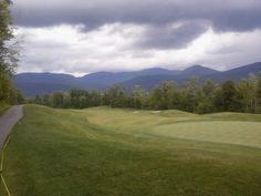 A stormy day at Sunday River Golf Course - 13th hole