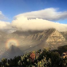 """Check out more sweet pics like these, who made them, and the stories behind them: instagram.com/capetownmag. Are you on Instagram? Tag one of your great pics with#CapeTownMag and we might just feature your image. The picture of the week for the winning #capetownmag feature! capetownmag """"Circular rainbow spotted from the top of Lions Head looking at Table Mountain!"""" Captured by @miche3 #capetown"""