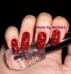 Nails by Malinka: Dry marble and plate Hehe-040