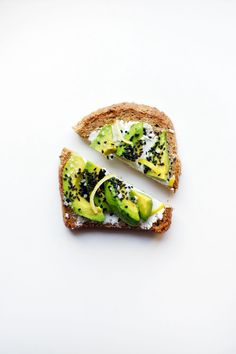 Avocado with goat cheese, black sesame seeds and lemon zest... Yum!