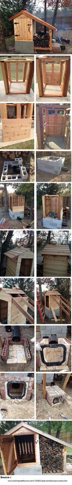 Learn How To Build A Smokehouse This simple way to build a log smokehouse is incredible and such a simple project. Its well known wet orndamp logs smoke and struggle to burn, so why not try this log smokehouse? Get your logs dry before you even need them. Take a look at these great DIY…