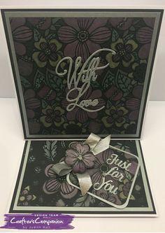 Easel card, made using Spectrum Noir Colorista Darks – coloured with Spectrum Noir Metallic pencils - designed by Judith Hall #spectrumnoircolorista #crafterscompanion #spectrumnoir