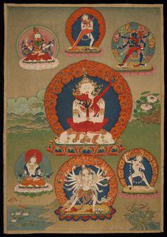 18th century Chakrasamvara Tantra painting from the Rubin Museum of Art