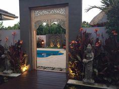 Balinese garden  In Melbourne. Garden designed by Melisa Dixon