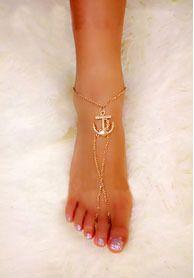 Moda ouro Anchor pulseiras tornozeleira pé Barefoot sandálias tornozeleiras para mulheres cadeia Tin Sexy praia tornozeleiras jóias grátis frete em Tornozeleira de Jóias no AliExpress.com | Alibaba Group