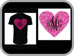 paisley heart monogram custom shirt, shown with vine monogram on back of shirt - pinned by pin4etsy.com
