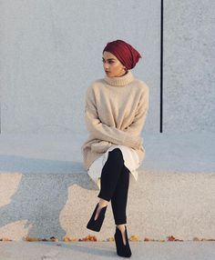 Hajra |hijab loft. Perfect, comfy outfit for the fall/winter (except I don't like turtle necks).