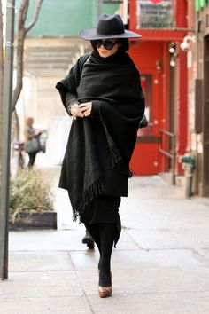 Vanessa Hudgens wearing an all-black outfit in NYC
