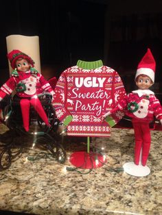 The Elf on the Shelf ~Elf Ugly sweater party