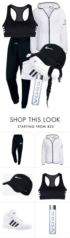 """Sem título #192"" by joyridx ❤ liked on Polyvore featuring NIKE and adidas"