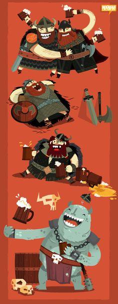 :::Drunk Vikings::: | Ilias Sounas