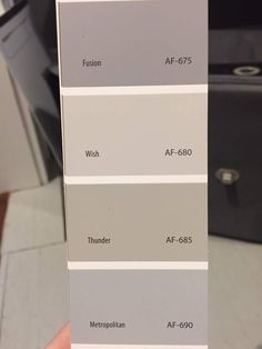 f you are tired of the same old gray paint colors check out BM Thunder. Benjamin Moore Thunder is the perfect mid-tone neutral gray paint color. Neutral Gray Paint, Best Gray Paint Color, Greige Paint Colors, Popular Paint Colors, Exterior Paint Colors, Paint Colors For Home, Grey Paint, Paint Colours, Exterior Design