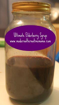 Monday Health and Wellness: Ultimate Elderberry Syrup | Modern Alternative Mama - during a cold (i don't use the fresh lemon juice)