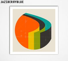 GICLEE Fine Art Print Modern Abstract Minimalism by JazzberryBlue, $30.00