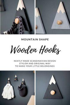 HILLS wooden hooks. Beautifully made! #Scandinavian #wooden #hooks #stylish #original #home #nursery #kidsroom #children #ad