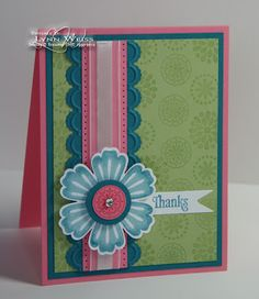 LOVE this color combo! The design and use of Mixed Bunch stamp set are wonderful too.
