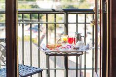 Breakfast on Guestroom Balcony