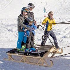 (R-L) Danish Prince Nikolai, Prince Felix and Prince Henrik during their 2015 wintersport holiday at the Col de Bretaye in Villars sur Ollon, Switzerland