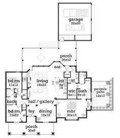 Main Level Floor Plan image of Stunning Craftsman