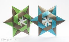 Modular Origami Stars by Maria Sinayskaya