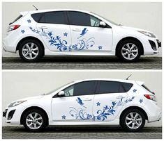 34 Star Stickers Vinyl Decal Kit Flower coche Ds3 Pared Saxo Mini VW Beetle Camper