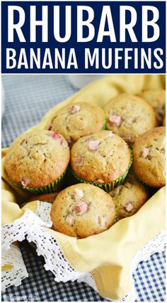 These Rhubarb Banana Muffins are made from scratch and are the perfect blend of . These Rhubarb Banana Muffins are made from scratch and are the perfect blend of sweet and tart. Everyone will love to wake up to one of these homemade rhubarb muffins! Muffin Recipes, Breakfast Recipes, Dessert Recipes, Breakfast Pastries, Breakfast Muffins, Breakfast Ideas, Bread Recipes, Best Nutrition Food, Health And Nutrition