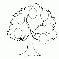 Coloring Pages Family Tree Printable For Kids