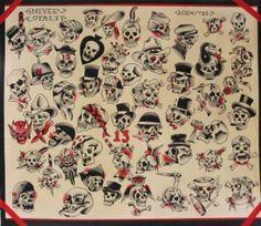 Skulls Tattoo Flash | KYSA #ink #design #tattoo