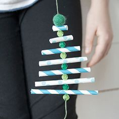 8 craft projects to do with striped paper straws | #BabyCenterBlog