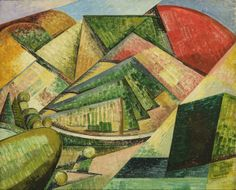 """Paysage Cubiste"", 1912, by Auguste Herbin"