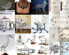 Beautiful wire projects created by Etsy artists using the 3Doodler 3D printing pen.