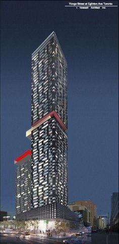 E Condos Eglinton Project, Toronto design by Roy Varacalli :: 65 and 45 floors, preliminary design #architecture ☮k☮