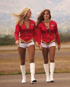 KC Chiefs Hotties   Kansas City Chiefs' Cheerleaders Spend Super Bowl Sunday In Cockpits ...